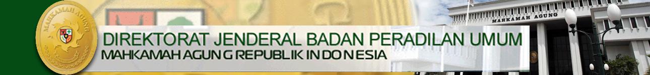 Website Direktorat Jenderal Badan Peradilan Umum MA RI